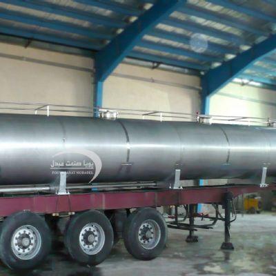 مخزن استیل حمل اسید 24000 لیتری