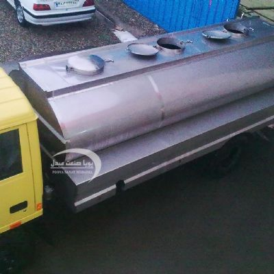 Single-layer stainless steel transfer tank for 5000 liters